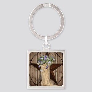 western country texas cowgirl Keychains