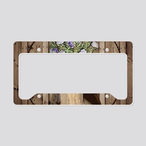 western country texas cowgirl License Plate Holder