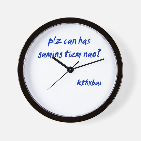 Gaming Tiem Wall Clock
