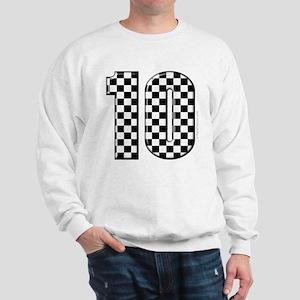 race car number 10 Sweatshirt
