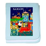Saigon Travel and Tourism Print baby blanket