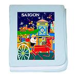 Saigon Travel and Tourism Print baby blanket
