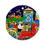 Saigon Travel and Tourism Print Round Ornament