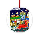 Saigon Travel and Tourism Print Round Ornament