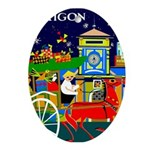 Saigon Travel and Tourism Print Oval Ornament