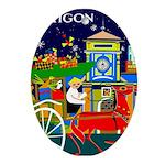 Saigon Travel and Tourism Print Oval Ornament