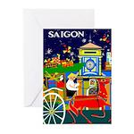 Saigon Travel and Tourism Print Greeting Cards