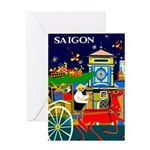 Saigon Travel and Tourism Print Greeting Cards