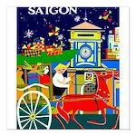 Saigon Travel and Tourism Print Square Car Magnet