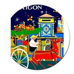 Saigon Travel and Tourism Print Round Car Magnet