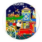Saigon Travel and Tourism Print Round Car Magnet