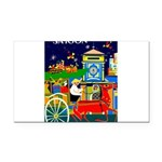 Saigon Travel and Tourism Print Rectangle Car Magn