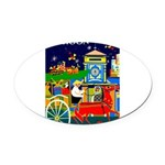 Saigon Travel and Tourism Print Oval Car Magnet