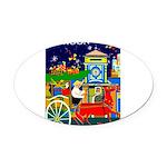 Saigon Travel and Tourism Print Oval Car Magnet