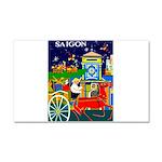 Saigon Travel and Tourism Print Car Magnet 20 x 12