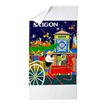 Saigon Travel and Tourism Print Beach Towel