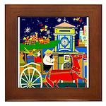 Saigon Travel and Tourism Print Framed Tile