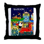 Saigon Travel and Tourism Print Throw Pillow