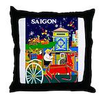 Saigon Travel and Tourism Print Throw Pillow