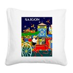 Saigon Travel and Tourism Print Square Canvas Pill