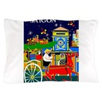 Saigon Travel and Tourism Print Pillow Case