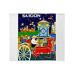 Saigon Travel and Tourism Print Throw Blanket