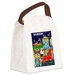 Saigon Travel and Tourism Print Canvas Lunch Bag