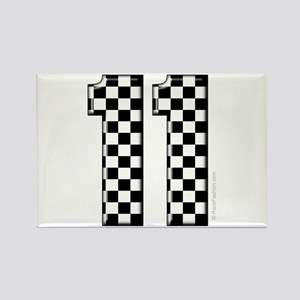 race car number 11 Rectangle Magnet