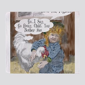 Foghorn and Girl Throw Blanket