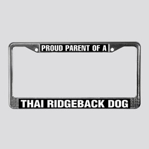Thai Ridgeback Dog License Plate Frame
