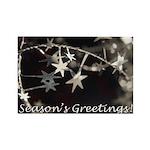 Season's Greetings - Stars Rectangle Magnet (100 p