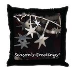 Season's Greetings - Stars Throw Pillow