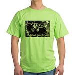 Season's Greetings - Stars Green T-Shirt