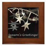 Season's Greetings - Stars Framed Tile
