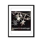 Season's Greetings - Stars Framed Panel Print