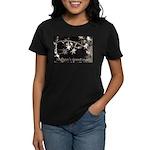 Season's Greetings - Stars Women's Dark T-Shirt