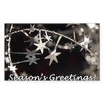 Season's Greetings - Stars Rectangle Sticker