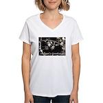Season's Greetings - Stars Women's V-Neck T-Shirt