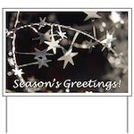 Season's Greetings - Stars Yard Sign