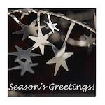 Season's Greetings - Stars Tile Coaster