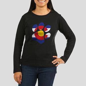 Colorado Paw Print Long Sleeve T-Shirt