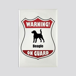Beagle On Guard Rectangle Magnet
