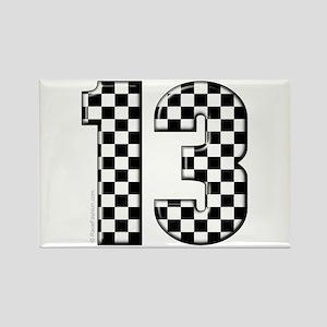 motorsport #13 Rectangle Magnet