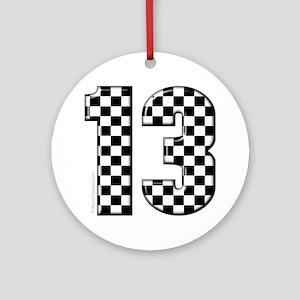 motorsport #13 Ornament (Round)