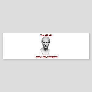 Vini Vidi Vici I Came I Saw I Conquered Sticker (B