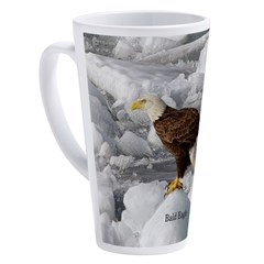 American Bald Eagle Full Pict 17 Oz Latte Mug