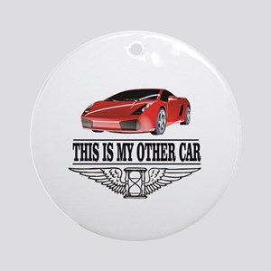 This is my other car Round Ornament