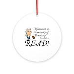 Thomas Jefferson - Read!<br> Keepsake (Round)