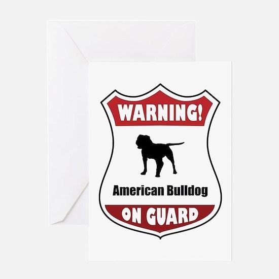 Bulldog On Guard Greeting Card