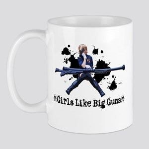 girls like big guns 3 Mugs